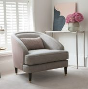 Fitzroy Chair in Bexley Smoke and Blomfield Auburn (1)