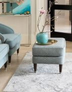 Fitzroy Footstool in Hampstead Teal