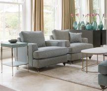 Hoxton Chairs in Hampstead Teal and Bexley Sea Spray